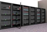 bank of computer servers