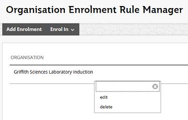 Edit or delete Org rule
