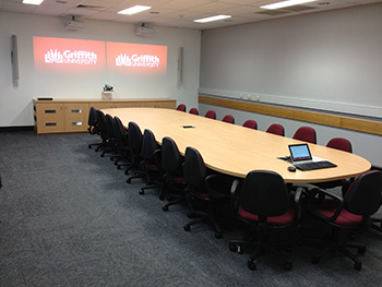 Advanced video conferencing room