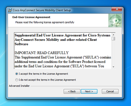 Cisco dialogue box